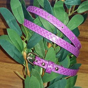 Ann Taylor Purple Leather Belt